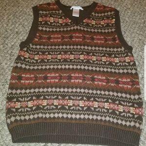 Janie and Jack Montana Sky Sweater Vest Boy's 6